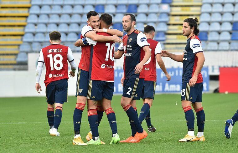 Lykogiannis esulta dopo il gol all'Udinese | Foto Luigi Canu