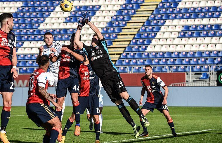 Cragno in uscita contro l Inter | Foto Alessandro Sanna