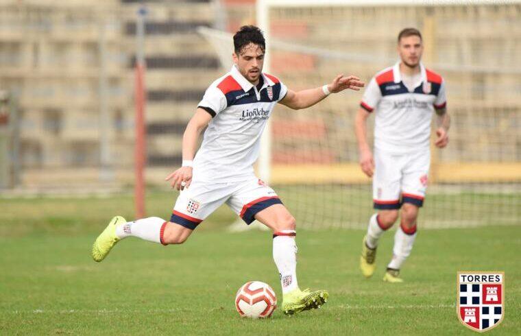 Nicolas La Vigna, centrocampista della Torres | Foto Alessandro Sanna