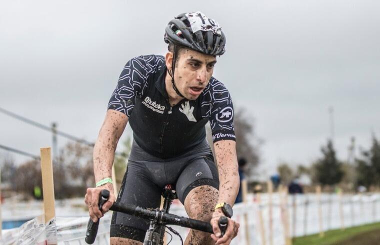 Fabio Aru durante gli italiani di ciclocross