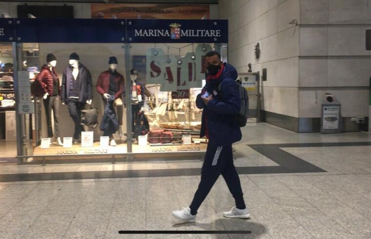 Joao Pedro in partenza verso Firenze per il ritiro