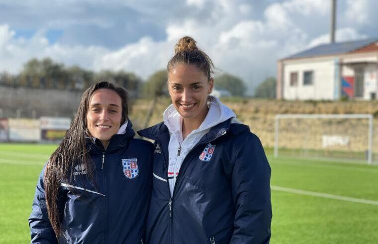 Adriana Gomes e Jelena Marenic, autrici dei gol rossoblu