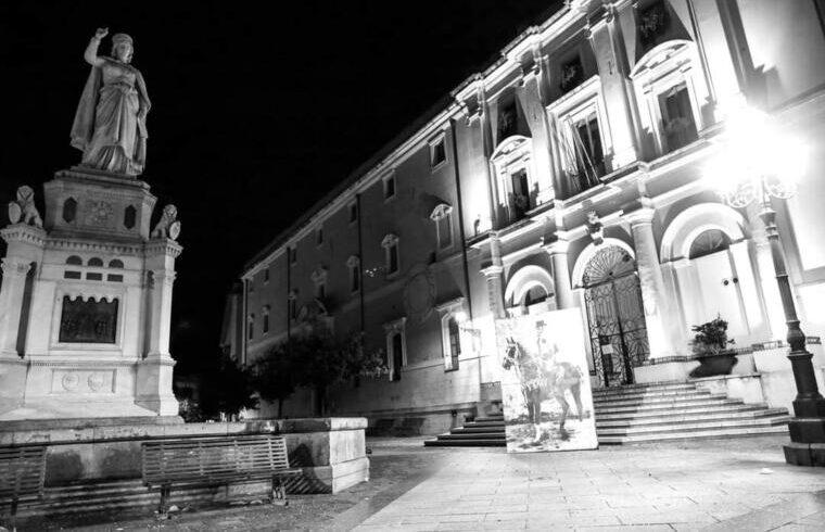 Opera di Andrea Secci e Michele Ardu realizzata per Sa Sartiglia 2021