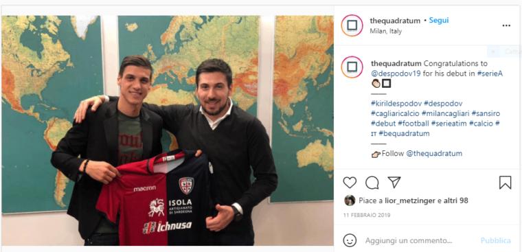 CagliariCalcio-Despodov-Beretta-Social-Instagram