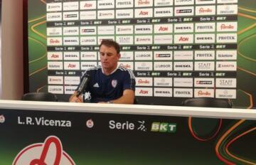 Leonardo Semplici in Sala stampa a Vicenza