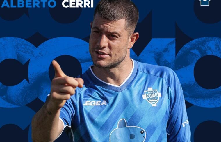 Alberto Cerri con la maglia del Como | Foto Como Football