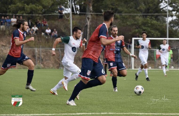 Davide Gaetani in azione contro la Torres | Foto Giorgio Melis